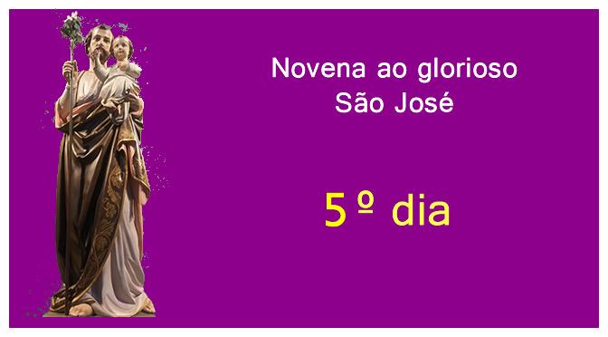 Novena ao glorioso São José – Quinto dia